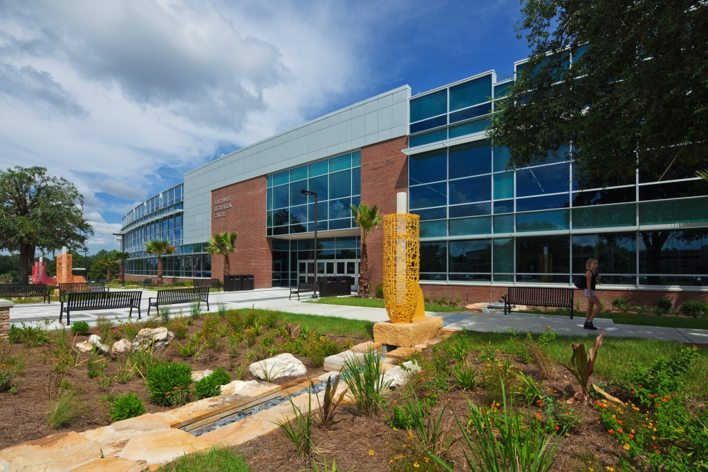 Florida Univ of SW Rec Expansion_KZ_Exterior Bioswale C-2
