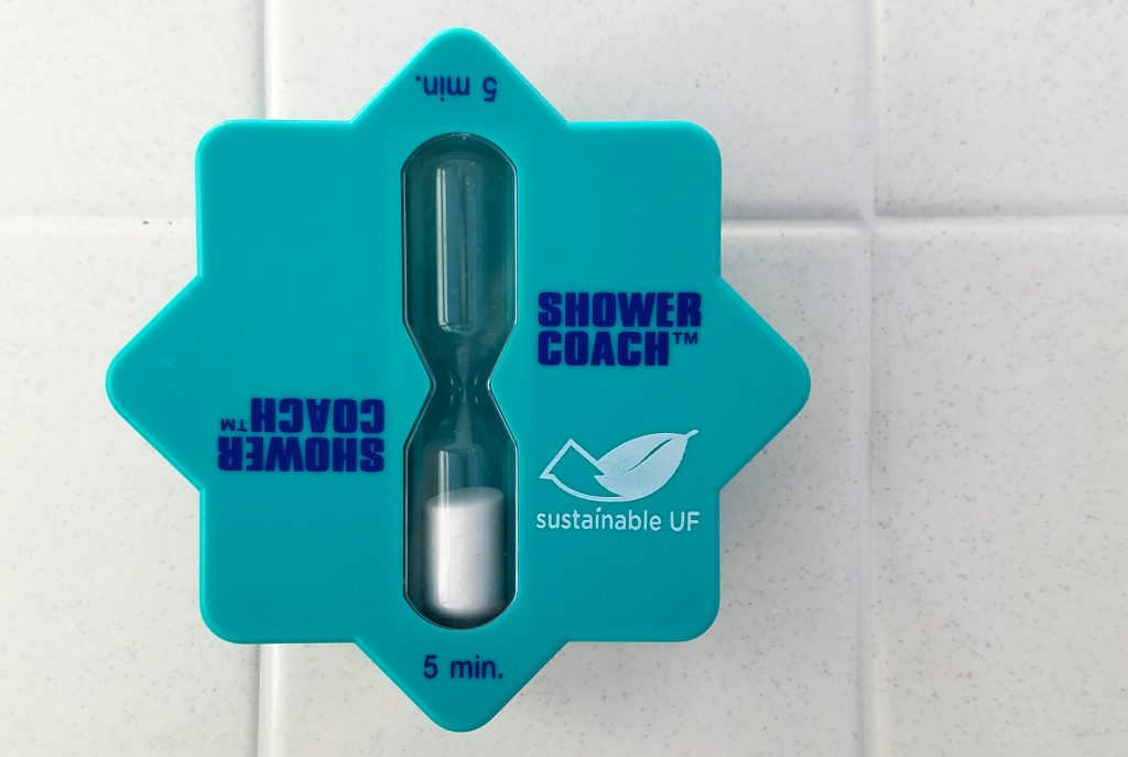 Sustainable UF Blue Hourglass Shower Timer for 5 minutes