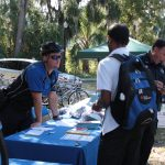 Police register bicycles at the Sustainable Transportation Fair