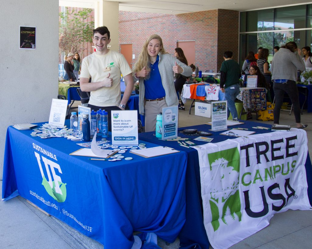 Tree Campus USA is tabling at the Sustainability Showcase alongside Sustainable UF